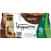 Starbucks® Frappuccino® Mocha Chilled Coffee Drink 15-9.5 fl. oz. Bottles - Walmart.com