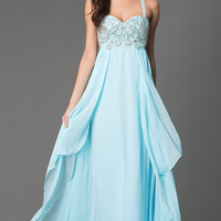 Spaghetti Strap Floor Length Sweetheart Dress