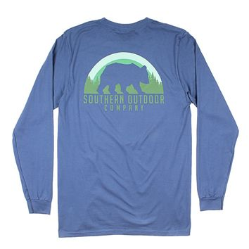 Bear Long Sleeve Tee in Navy by Southern Outdoor Co. - FINAL SALE