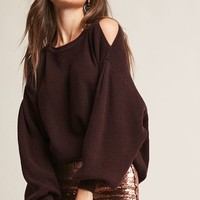 Oversized Open-Shoulder Top