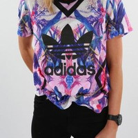 adidas Originals Multicolor Print T-Shirt Top Tee