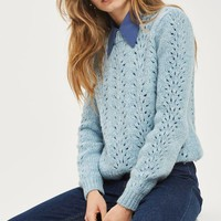 Pointelle Mohair Jumper