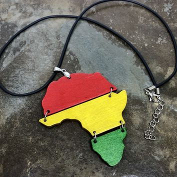 "13"" Africa map Necklace.....Free USA shipping"