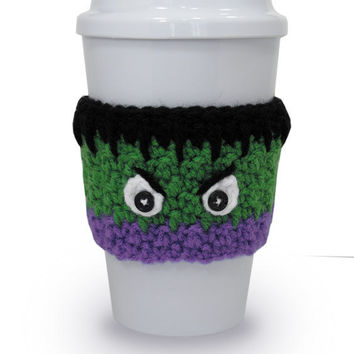 Incredible Hulk Inspired Crochet Coffee Cup Cozy