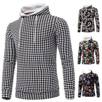 Mens Cool Patterned Pullover Hoodie