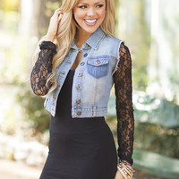 Jean and Lace Jacket