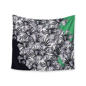 """Sonal Nathwani """"Flowers on Green"""" Wall Tapestry"""