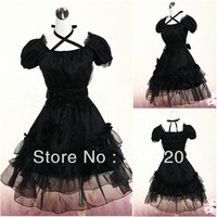 Customizable Black cotton Classic Goth costumes Dress