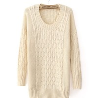 *Free Shipping* Beige Women One Size Sweater TBHTK1205 from MaxNina