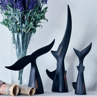 Black Tail Sculpture.  Choice of Whale, Shark or Dolphin