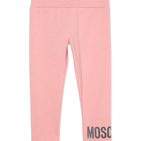 MOSCHINO Glitter logo leggings
