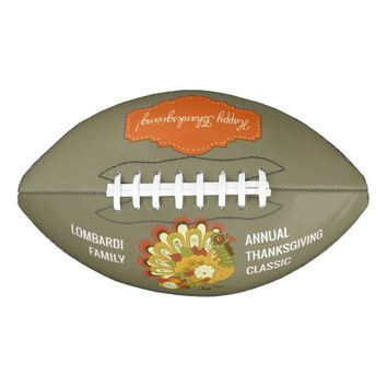 Thanksgiving Day Holiday Personalized Football