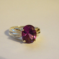 Sterling ring alexandrite stone size 6. 5