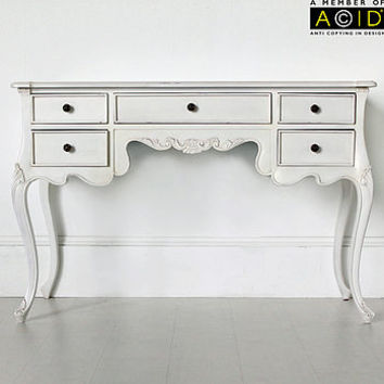 Classic Five Drawer Console Or Dressing Table