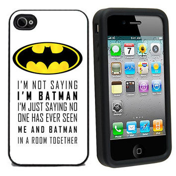 Iphone 4/4s Funny Batman Personalized Case Defender by TJKCustoms