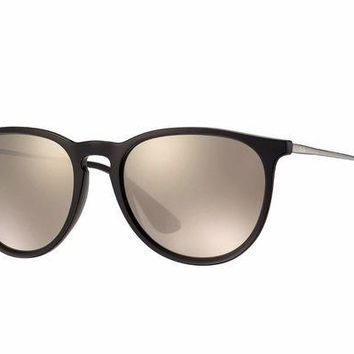 Kalete Ray Ban RB4171 601 5A Erika Gunmetal Frame Gold Mirror 54mm Lens Sunglasses