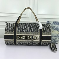 DIOR OBLIQUE CANVAS HANDBAG INCLINED SHOULDER BAG