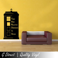 Large 150cm Doctor Who TARDIS Police Box Kids Vinyl Wall Sticker Decal Art Transfer Graphic (Alt)