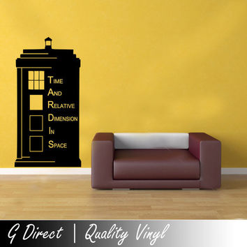 Large 150cm Doctor Who TARDIS Police Box Kids Vinyl Wall Sticker Decal Art  Transfer Graphic ( Part 11