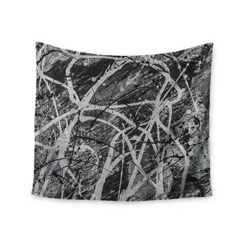 "Bruce Stanfield ""Verness In Grayscale"" White Black Wall Tapestry"
