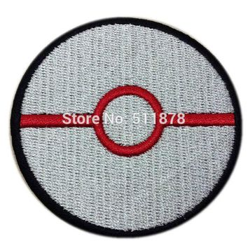 POKEBALL PREMIER BALL STORING POKEMON GO Pokemon Movie TV Game Series Costume Embroidered Emblem sew on iron on patch Badge
