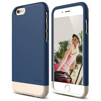 iPhone 6 Case, elago® [Glide][Jean Indigo / Champagne Gold] - [Mix and Match][Premium Armor][True Fit] - for iPhone 6 Only