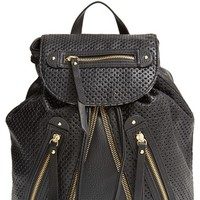 LP Blue 'Zoe' Perforated Zip Backpack
