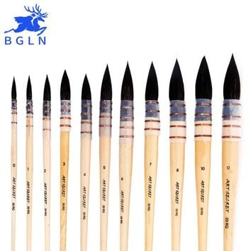 1Piece Korean Squirrel's Hair Watercolor Paint Brush Professional Pointed Artist Painting Brushes For Watercolor Art Supplies