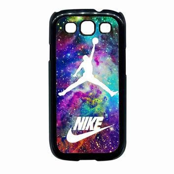 Michael Jordan on galaxy nebula new custom For Samsung Galaxy S3 Case *02*