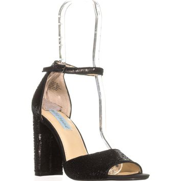 Blue by Betsey Johnson Calie Dress Sandals, Black, 7.5 US