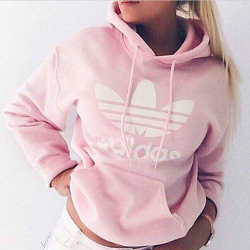 adidas women fashion hooded top sweater from zuzu. Black Bedroom Furniture Sets. Home Design Ideas