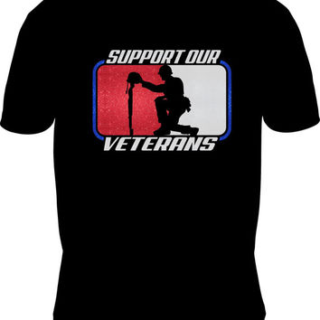 Veterans TShirt, Support Our Veterans, Military, Custom Veterans TShirt, Military TShirt, Support Military Clothing