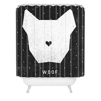Wesley Bird Woof Shower Curtain