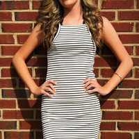 Sweet Summer Time Dress - Black/ White