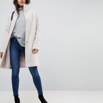 ASOS Oversized Coat with Funnel Neck at asos.com