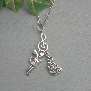 Hamilton The Musical Necklace Guns and Ships Inspired Jewelry