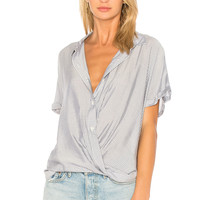 BCBGeneration Wrap Hem Dolman Shirt In Dark Navy Combo in Dark Navy Combo | REVOLVE