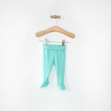 Footie Leggings in Seafoam