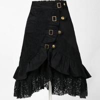 Cotton lace black gothic punk skirt lolita harajuku cosplay costume large sizes goth steampunk clothing hip hop women clothes