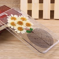 Pressed Flower Daisy iPhone 5 case, iPhone 4 case, iPhone 4s case, iPhone 5s case, iPhone 5c case, Galaxy S4 S5 Note 3 - 01010