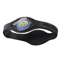 Power Balance Silicone Black w/Black Lettering - Small