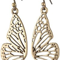 "Lucky Brand ""Washed Denim"" Wing Drop Earrings"