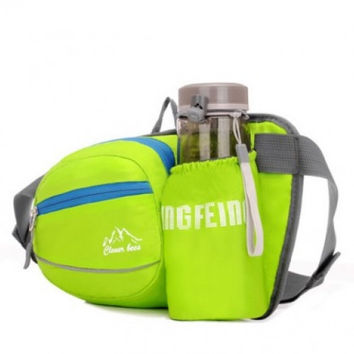 Running Hiking Cycling Waist Bag Water Bottle Pocket's Fanny Pack Sports Waist Belt
