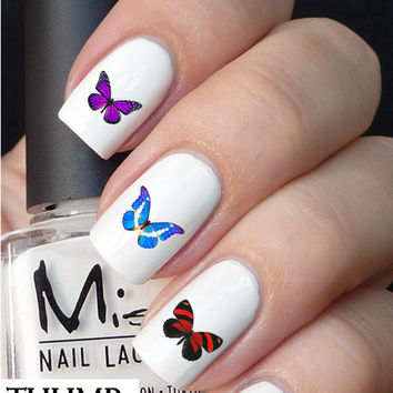 50pc Butterfly cross nail decals nail decal nail art nail sticker
