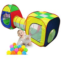 Baby Toys 3pc set Cuby-Tube-Tepee Pop-up Play Tent Toys for Children Kids Tent Baby Tunnel Adventure Play House Toy Tents