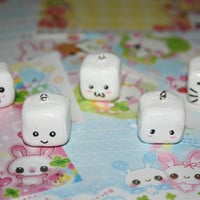 5 Kawaii Tofu Charms All With Different Faces by CinderellaBoy
