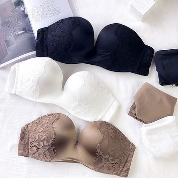 1/2 bride Lingerie Bra Set Sexy Lingerie Set Underwear Women Set seamless one-piece white Push Up Bra Panties Bralette Set