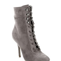 Gray Standards Lace-Up Booties