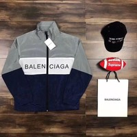 PEAPS BALENCIAGA Fashion Zipper Print Cardigan Jacket Coat Windbreaker Sweatshirt