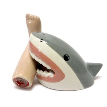 Shark Attack Magnetic Salt and Pepper Shaker Set